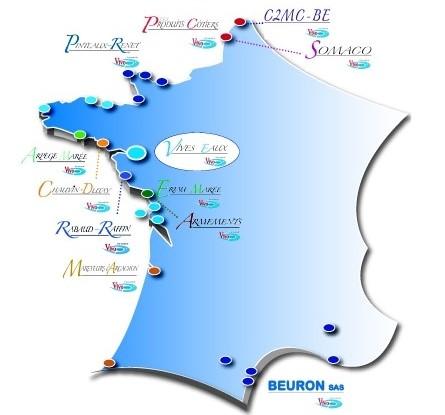 Implantation nationale de Vivo Group sur les côtes françaises
